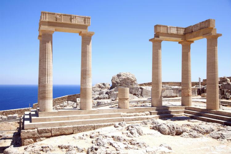 Alte Tempel auf Rhodos