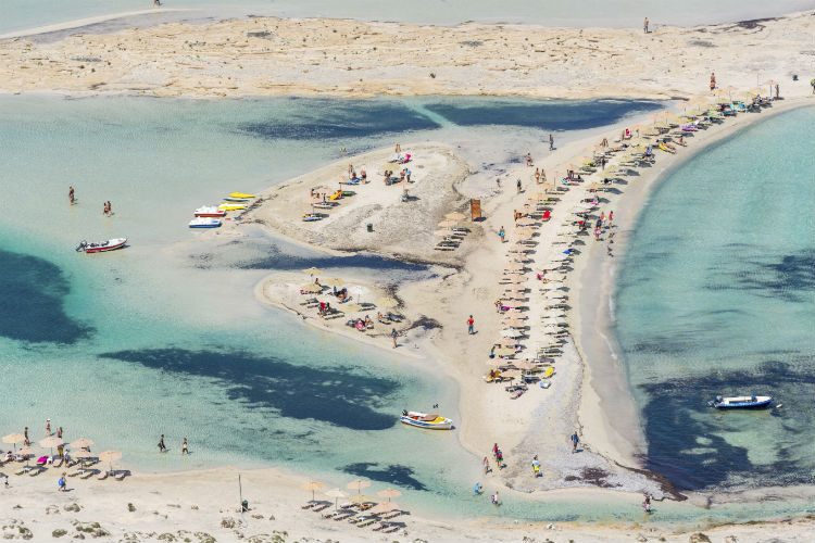 Besucher am Balos Beach auf Kreta
