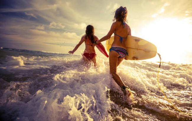 Surfen lernen an der Atlantikküste Frankreichs