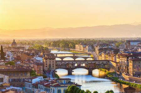Sicht auf die Ponte Vecchio Brücke